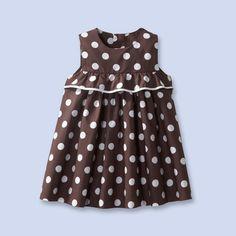 Jacadi polka dot poplin dress.
