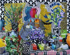 Still_life_with_house_plants_and_pink_vase Pinned here are just a few images, the Flash Forward doc links to Daniel Gordon's whole site. Dada Collage, Create Collage, Amazing Paintings, A Level Art, Painting Still Life, Art Fair, Art Boards, Images, Abstract