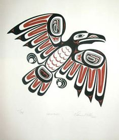 A Haida raven. I really like ravens as animals (long story), and I also like the clean, geometric style.