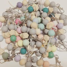 """""""Just smashed out this big stack of key rings  My poor hands will be happy if they don't have to tie another knot for a few days  These guys are on the website (link in bio) and are only $5 each. Perfect if your like me and loose your keys in the bottom of your handbag every day  #keyrings #handmade #madeintas #madeintasmania #supportsmallbusiness #shoplocal #shopsmall"""" Photo taken by @vintagelanehandmade on Instagram, pinned via the InstaPin iOS App! http://www.instapinapp.com (10/28/2015)"""