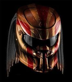 Your place to buy and sell all things handmade Motorcycle Style, Motorcycle Helmets, Predator Helmet, Predator 1, Helmet Paint, Custom Helmets, Sci Fi Armor, Biker Gear, Street Fighter