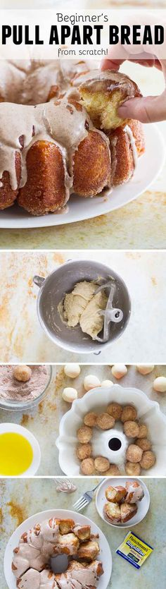No Bake: Beginner's Cinnamon Pull Apart Bread (From Scratch...