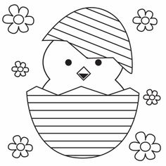Kleurplaat kuiken in paasei. Easter Arts And Crafts, Spring Crafts, Easter Photo Frames, Easter Egg Designs, Easter Colouring, Easter Printables, Easter Activities, Coloring Book Pages, Easter Bunny