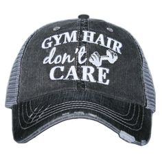 58cce34b39a Katydid Gym Hair Don t Care Hat designed by Katydid trucker caps are  embroidered and have curved bill distressed cap gives it a worn look  adjustable tab ...