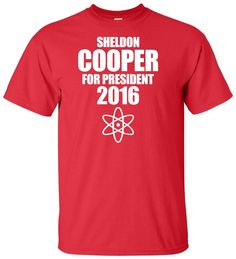 Sheldon Cooper for President 2016 - Funny Political Election T Shirt The Big Bang Theory Humor Adult Unisex Sizes Gildan 50/50 CBS TV Show by IsawThatOnPinterest on Etsy #sheldoncooperforpresident2016 #sheldoncooper #sheldon #cooper #bigbangtheory #thebigbangtheory #cbs #sitcom #comedy #funny #jimparsons #softkitty #tshirt #election #2016election #presidentialelection #vote #tbbt #isawthatonpinterest #knockknockknock #penny #leonard #raj #howard #amy #bernadette #sheldoncoopertshirt