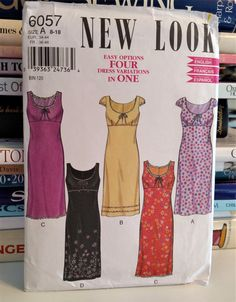 1990s New Look-Easy Options-FOUR Dress by PaperWardrobesEtc