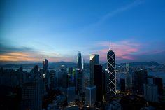 Hong Kong sunset from my living room [1280x853] [OC]