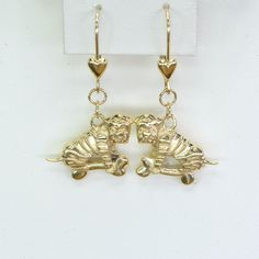 14Kt Gold Chinese Shar Pei Earrings by Donna Pizarro from her Animal Whimsey Collection of Fine Dog Jewelry by DonnaPizarroDesigns on Etsy
