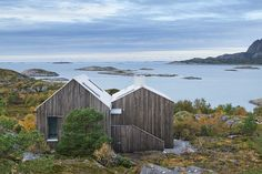 Vega Cottage by Kolman Boye Architects Looking out over Norwegian Sea