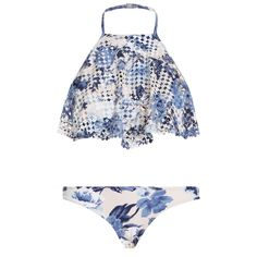Zimmermann Hydra Perforated Halter Bikini available from their James St Boutique, Brisbane