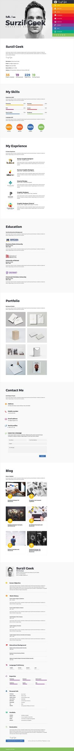 No need to turn the Internet upside down to get a personal resume - wordpress resume theme