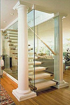 Stairs on pinterest staircases stairs and basement steps for Enclosed staircase design