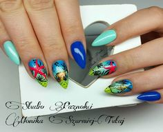 by Monika Szurmiej Tutaj Indigo Young Team :) Follow us on Pinterest. Find more inspiration at www.indigo-nails.com #nailart #nails #indigo #summer #beach