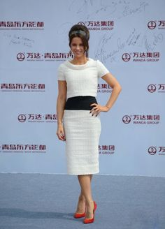 Kate Beckinsale In Elie Saab Couture & Oscar de la Renta - Qingdao Oriental Movie Metropolis Launch Event