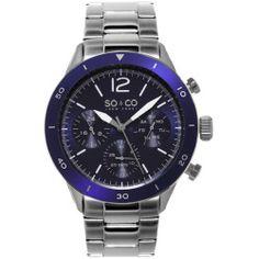 Today Review - SONew York Mens Yacht Club Blue Bezel Quartz Stainless Steel Watch