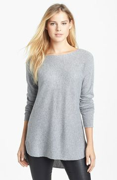 Halogen® High/Low Hem Cashmere Sweater (Regular & Petite) available at #Nordstrom