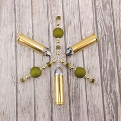 Snowflake Ornament - Hunting Theme - .38 Special - Camouflage - Army Green - Bullet - Camo