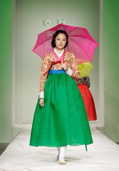 fruit salad let's play futbol kind of hanbok Korean Traditional Clothes, Traditional Gowns, Traditional Fashion, Korean Dress, Korean Outfits, South Korea Fashion, Modern Hanbok, Ethnic Dress, Fashion Show Collection