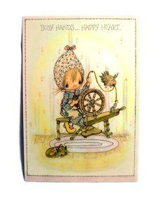 On Sale Vintage Betsy Clark Stationary Postcard Precious Moments Hallmark Collectible. $3.20, via Etsy.