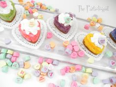 Heart cheesecakes at a Valentine's Party #valentine #cheesecake