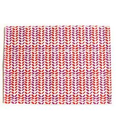 Leaves Placemats in Fuchsia/Cherry (Set of 4)