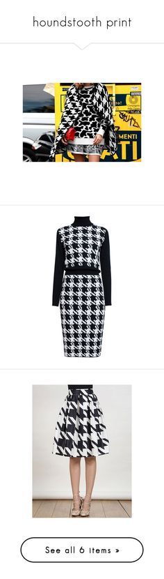 """""""houndstooth print"""" by yuliaexe ❤ liked on Polyvore featuring MICHAEL Michael Kors, StyleStalker, Whistles, Andrew Gn, dresses, ribbed turtleneck dress, merino wool turtleneck, pattern dress, off white dresses and print turtleneck"""