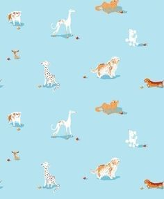 Heather Ross, Munki Munki, DOGS on Poplin, 1 Front Panel. $12.00, via Etsy.