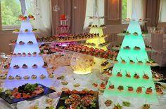 Piramida led catering gastronomia buffet
