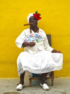 Cigar smokin' woman in Cuba - gorgeous shot.by  Hollye Jacobs, RN, MS, MSW. One of a few Cubans who made an impression on her.