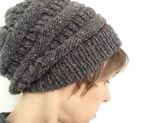 This slouchy hat is an easy and fun knit. The textured stitch pattern looks simple and stylish, which makes for a great unisex hat. The pattern calls for knit, purl, and the fisherman's rib stitch. No decreases necessary.