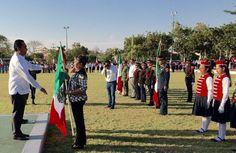 Con la representación del gobernador Silvano Aureoles, el secretario de Gobierno, Adrián López Solís, encabezó en Apatzingán el 76 Aniversario del Día de la Bandera – Apatzingán, Michoacán, 24 de ...