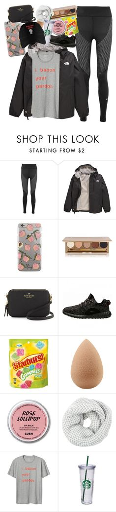 """""""Invitational Saturday"""" by fandombreather ❤ liked on Polyvore featuring NIKE, The North Face, Jane Iredale, Kate Spade, adidas, beautyblender, Accessorize and Gap"""
