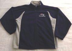 Men's NFL New England Patriots Fleece Jacket Sz XL Reebok Full Zip Sweatshirt #Reebok #NewEnglandPatriots