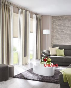 Unland LivingReet, Fensterideen, Gardinen und Sonnenschutz - curtains, contract fabrics, pleated blinds, roller blinds and more. Made in Germany
