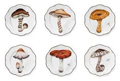 Alberto Pinto's Champignon dinner plates add a bit of whimsy to the table.