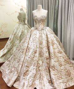 newest collections for spring 2016 is now available at our studio. • royal goldish champagne ballgown •