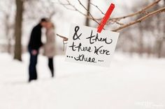 Pregnancy shots in the winter...So darn cute! Subtle and sweet. http://www.kristenlynnphotographie.com/