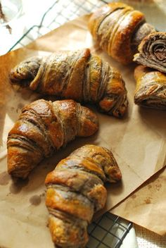 Just another day .: Chocolate croissants