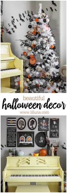 Beautiful Halloween decor - from Halloween trees to gallery walls, these ideas are awesome!