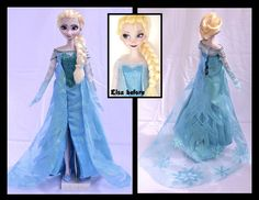 Elsa doll before and after