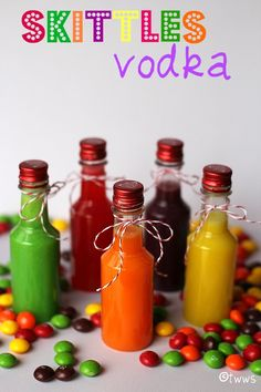 Skittles or Jolly Ranchers! How cool is this! Flavored Vodka!   I started a new board for this! :)