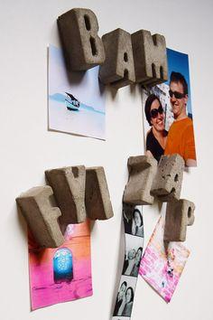 DIY Concrete Letter Magnets