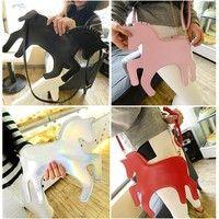 Wish | Lovely Design Clutch Bag Women Fashion Little Horse Shape Handbag Unicorn Shoulder Bag