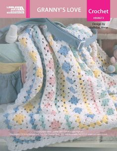 Grannys Love Baby Afghan ePattern... A beautiful blanket,and the pattern is free!!