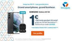 A l'occasion de son événement « Les grands jours », Bouygues Telecom propose avec son forfait Sensation Avantages Smartphone 150 Go, un Samsung Galaxy S21 5G à un incroyable tarif. Une offre haut de gamme disponible jusqu'au 2 novembre seulement...