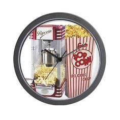 popcorn flip flops Wall Clock on CafePress.com