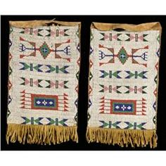 Sioux beaded and fringed bags