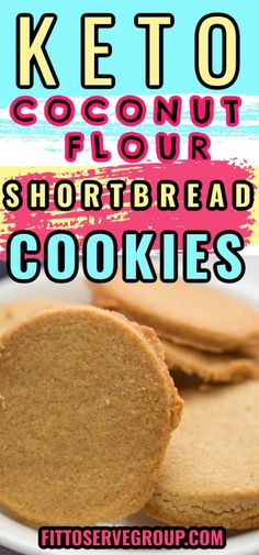 Crisp, melt in your mouth coconut flour shortbread cookies. Made with only five ingredients you probably already have in your gluten-free, low carb pantry! It's a keto coconut flour shortbread cookie recipe you are sure to fall in love with! gluten-free shortbread cookies| nut-free shortbread cookies Gluten Free Shortbread Cookies, Coconut Flour Cookies, Coconut Flour Recipes, Sugar Free Cookies, Shortbread Recipes, Sugar Free Desserts, Keto Cookies, Cookie Recipes, Keto Recipes