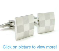 Laser Engraved Checker Cufflinks Gift Boxed