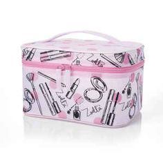 Zoella Beauty Pink Frosted Vanity Case / Cosmetics / Make Up Case Zoella Makeup Bag, Zoella Beauty, Beauty Makeup, Stocking Fillers For Kids, Christmas Stocking Fillers, Makeup Vanity Storage, Facial Care, Makeup Case, Girly Things
